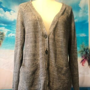 Madewell | Gray Cotton Cardigan